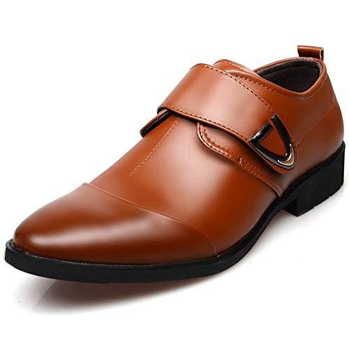 XUNERDA Klassischer Oxford Männer Jugend Geschäft Kleidung Schuhe Leder weichen Böden britische Spitze Metallziergummisohle (Color : Black, Size : 41 EU)