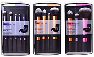 3 Real Techniques Brush Set (Travel Essential 1400, Starter Set 1406, Core Collection 1403)