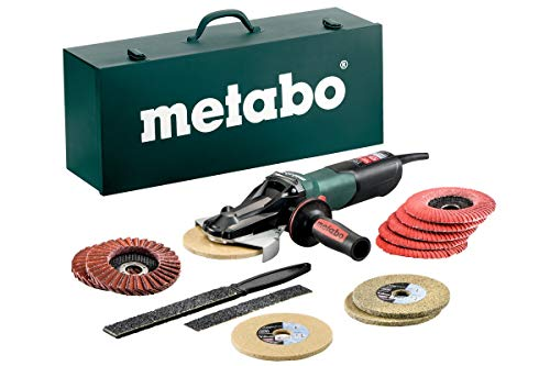 Metabo Flachkopf-Winkelschleifer WEVF 10-125 Quick Inox Set (613080500) Stahlblech-Tragkasten