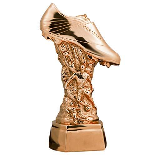 LH SHOP Kunst-Trophäe, Fußball-Trophäe, Champions League-Trophäe, Golden Boot-Trophäe, Trophäen-Souvenir, (Color : Copper, Design : #2)