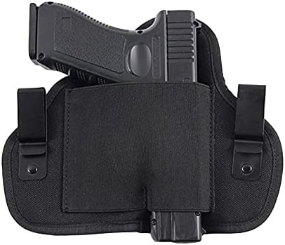 Gexgune Funda de Transporte Oculta Izquierda y Derecha Funda de Pistola Universal para Glock 17 18 19 26 43 Beretta M92f Sig Sauer p226 CZ75 Funda