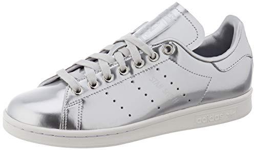 adidas Damen Stan Smith W Gymnastikschuh, Silver Metallic/Silver Metallic/Crystal White, 40 2/3 EU