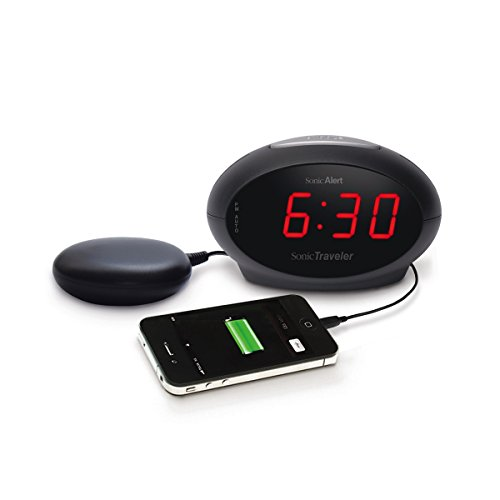 Geemarc SBT600SS- Extra Loud Alarm Clock, USB Charging Socket and Vibrating Bed...
