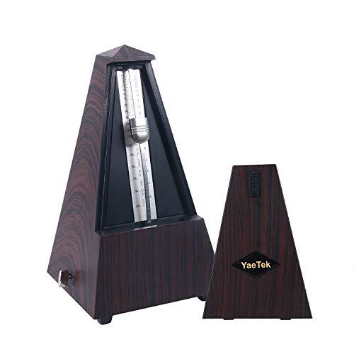 YaeTek Mechanische metronoom houtnerf voor pianogitaar gitaar/bas/piano/viool trommel en andere instrumenten luid geluid/hoge precisie