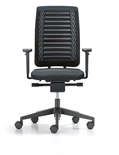 Girsberger Reflex Netz Drehstuhl Synchronmechanik Bürodrehstuhl schwarz Bürostuhl