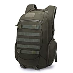MATERIAL- 35 Liters. This military backpack is made of 600D polyester. YKK Zipper. HYDRATION COMPARTMENT- This assault pack with hydration compartment and can hold a 2.5 Liter bladder, the tube is fed through the top of the bag near grab handle. MOLL...