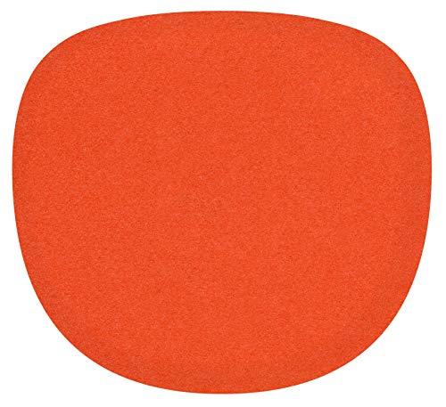 Feltd. Eco Filz Auflage 4mm Simple - geeignet für Sidechair // - 30 Farben inkl. Antirutschunterlage (kürbis)
