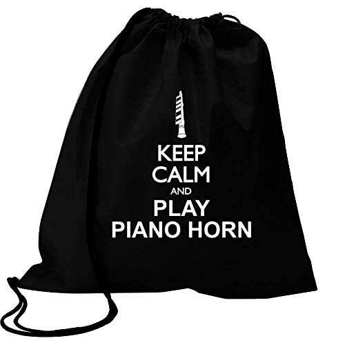 Idakoos Keep Calm and Play Piano Horn - Silhouette Sport Bag