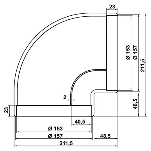 4043040 Naber Flow star GTS//CASSETTA muro in acciaio inox//// 150er TONDO canale