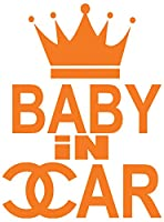 【全16色】人気!ベイビー イン カー ステッカー!Baby in car Sticker/車用/シール/Vinyl/Decal/バイナル/デカール/ステッカー/BIC-C1 (オレンジ) [並行輸入品]