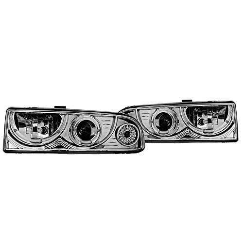 Winjet Headlights Compatible With 1998-2005 Chevrolet Blazer Ck & 1998-2004 Chevrolet S-10 Pick Up Chrome Clear Headlamp Assembly kit Driving Light | 1999 2000 2001 2002 2003