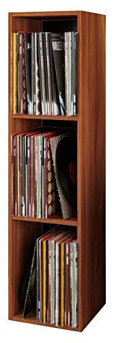 """VCM Regal Schallplatten Standregal Bücherregal Universal Archiv LP Möbel Holz Kern-Nussbaum 115x34x29 cm \""""Platto\"""""""