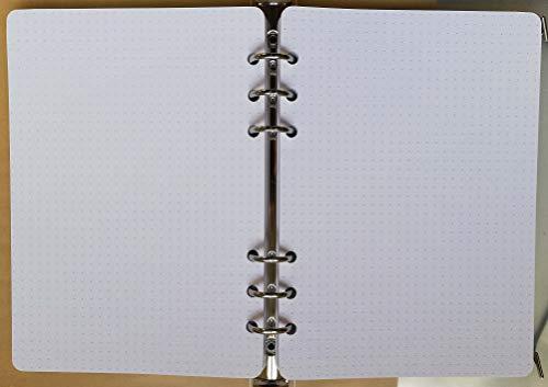 200 Blatt Nachfüller Papier 120gr, 14x20cm - Notebook/Ladekabel für Agenda A5 mit 6 Ringe