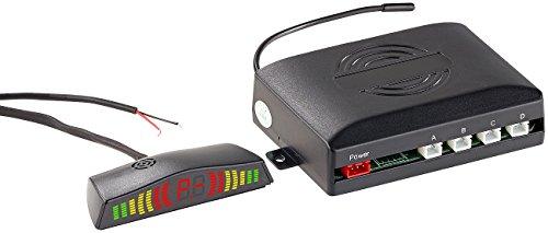 Lescars Einparkhilfe: Funk-Rückfahrhilfe PA-280 für Pkw, mit 4 Sensoren & Armaturen-Display (Rückfahrsensor)