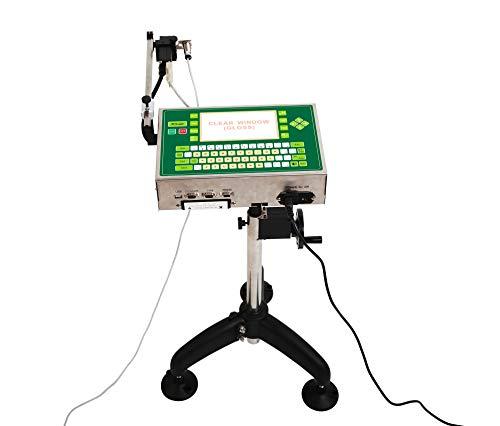 MXBAOHENG PM-338 Industrie-Tintenstrahldrucker, Datumscode Druckmaschine mit hoher Auflösung für Rohre Kunststoffprodukte und Aluminiumdosen