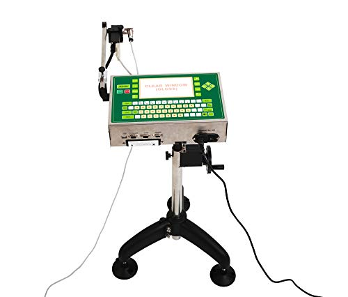 MXBAOHENG PM-338 Imprimante à jet d'encre industrielle Date Code Imprimeur avec haute résolution pour tubes en plastique et canettes en aluminium