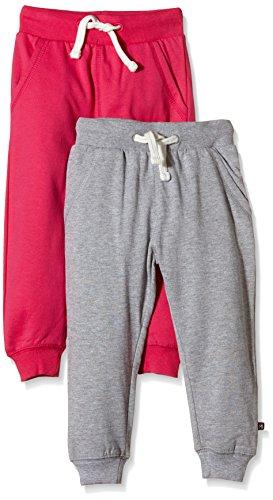 Magic Kids - lot de 2 - Pantalon Fille - Multicolore (Grey/DarkPink 577) - 110