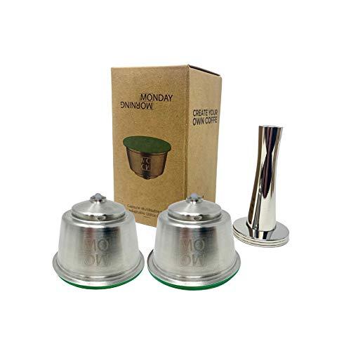 Monday Morning Cápsula reutilizable compatible con Nescafé Dolce Gusto (2 cápsulas + 1 tamper)