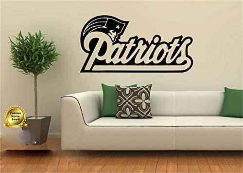 wandaufkleber 3d Wandtattoo Schlafzimmer New England Patriots Decor Aufkleber Wandbild Grafik Fußball Geschenk Spielzimmer Kinderzimmer Jungenzimmer Sportzimmer