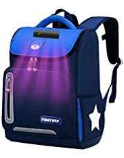 Tuzi Qiuge Bolso de Escuela de desinfección UV Esterilización con Luz Ultravioleta Mochila Moda Niños (Color : Dark Blue)