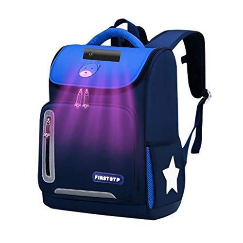 Tuzi UV Disinfection School Bag Sterilization With Ultraviolet Light Backpack Children Fashion QiuGe (Color : Dark Blue)