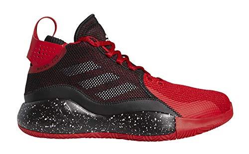 adidas Unisex-Erwachsene D Rose 773 2020 Sneaker, Escarl/Negbás/Ftwbla, 44 2/3 EU