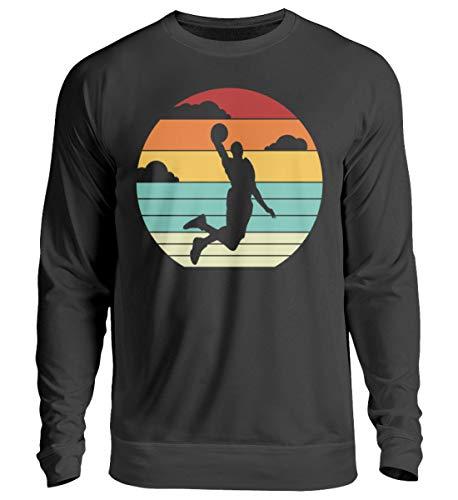 Generisch Sudadera retro de baloncesto Dunk de baloncesto, diseño vintage, unisex Negro M