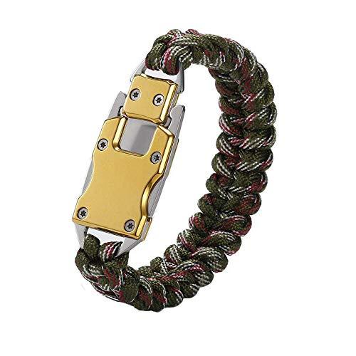 WEREWOLVES Paracord Rope Bracelet Survival Bracelets Multitool Survival Gear Tactical EDC Bracelet Camping Paracord Bracelet for Men Gift (Camouflage)