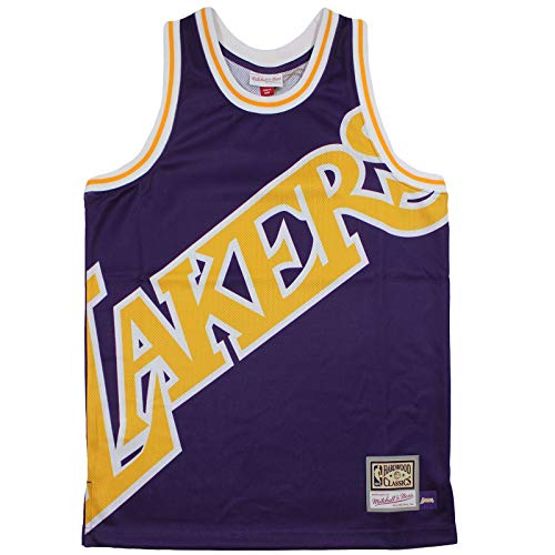 M&N Big Face Jersey Los Angeles Lakers NBA Trikot lila Purple Größe M bis XXL