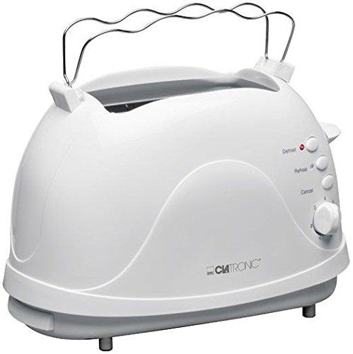 Clatronic 263089 TA 3287 2 Scheiben-Toaster, weiß