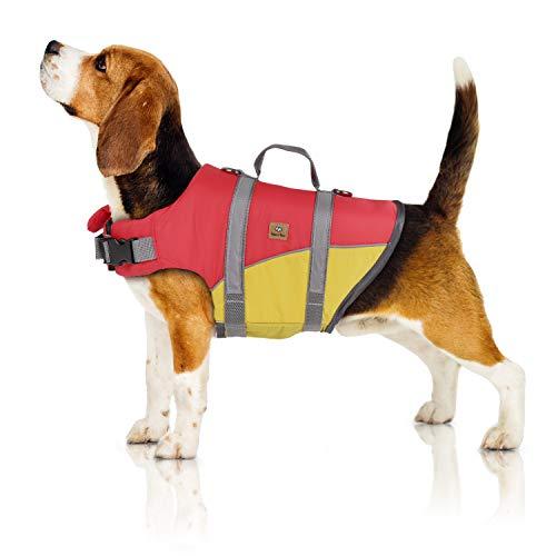 Bella & Balu Schwimmweste für Hunde – Reflektierende Hundeschwimmweste für maximale Sicherheit im und am Wasser beim Schwimmen, Segeln, Surfen, SUP, Kayak & Kanu Fahren und bei Bootsausflügen (Gr. M)