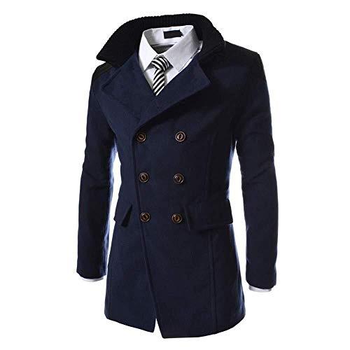 Adelina heren sweater opstaande kraag Double Breasted met zijdelingse steekzakken Outwear wollen mantel Fashionable Completi overgangsjas Parka Trenchcoat