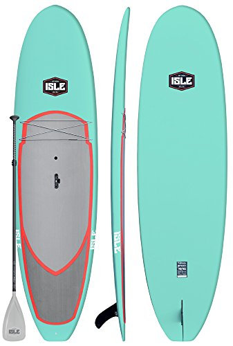 "ISLE 10'5' Versa | Rigid Stand Up Paddle Board | 4.5"" Thick SUP and Bundle Accessory Pack 