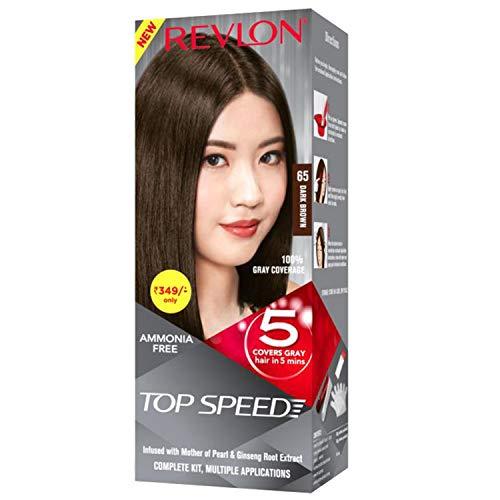 [Apply coupon] Revlon Top Speed Hair Color, Dark Brown 65, 100 g