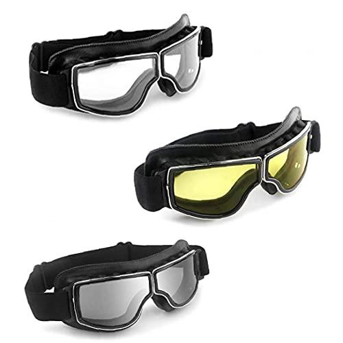 Gafas De Motocross Gafas De Esquí Deportivas Gafas De Montar Al Aire Libre Gafas a Prueba De Viento Casco De Motos Eyewear para Deportes Transparente