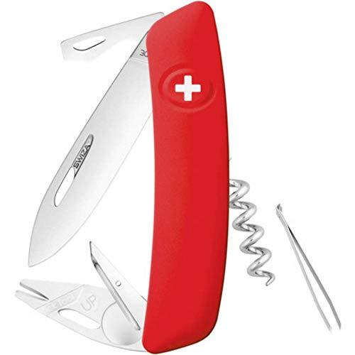 SWIZA Erwachsene Messer TT03, rot, Silber, One Size