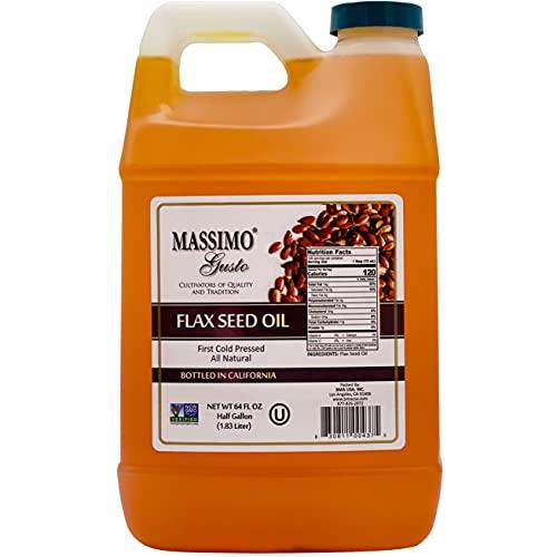 Massimo Gusto - Flax Seed Oil - 1/2 Gallon