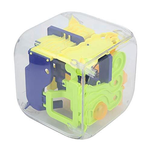Educatieve 3D-doolhofbal, Educatief doolhof voor volwassenen, Hoogwaardig materiaal en glad oppervlak en interactie en gezelligheid, Educatief speelgoed voor bordspellen(geel)