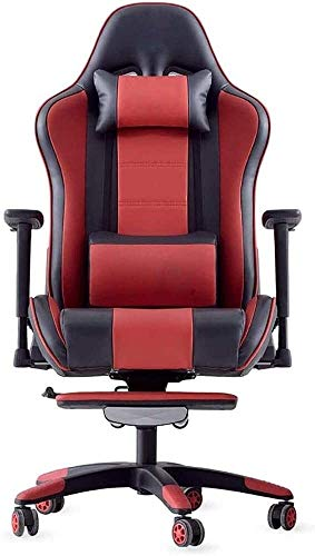 YYDD Gaming Chair Office Chair PC Chair, Gaming Chair Ergonomic Computer Game Chair Seat Height Adjustment Recliner Swivel Rocker Office Chair with Headrest and Lumbar Pillow, Office Furniture