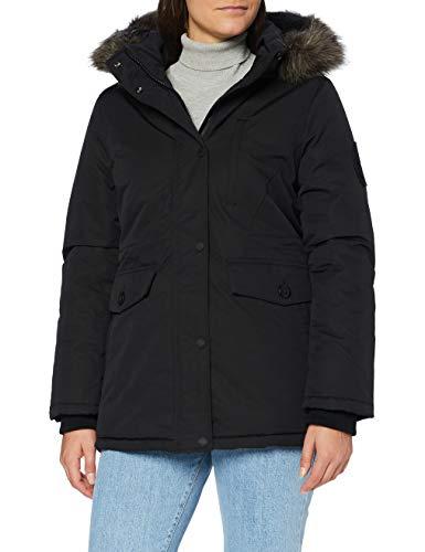 Superdry Everest Parka Giacca, Black, M (Taglia Produttore:12) Donna