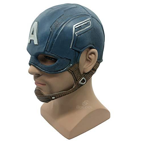 Capitán América Máscara Realista Superhéroe Halloween Máscara DC Película Látex Máscara Cosplay Traje Props Juguetes