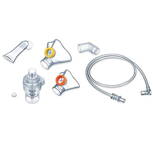 Preisvergleich Produktbild Beurer IH 58 Kids Yearpack,  Nachkaufset für den IH 58 Kids Inhalator,  desinfektionsfähiges Medizinprodukt,  Vernebler,  Mundstück,  2 Masken,  Winkelstück,  Druckuftschlauch,  10 Filter