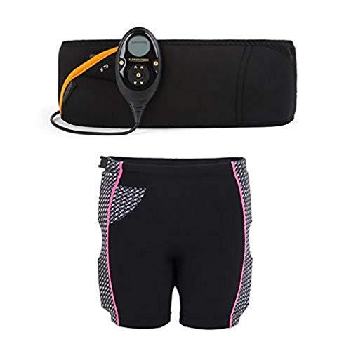 Slendertone Pack Cinturón Abs7 y Pantalones Cortos para Gluteos Electroestimulacion, Unisex-Adult, Negro, 69-119cm, 34-40