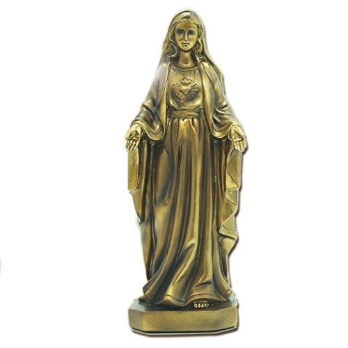 """11.81""""nuestra Señora de gracia virgen María figura de resina dorada estatua religiosa decoración BS124"""