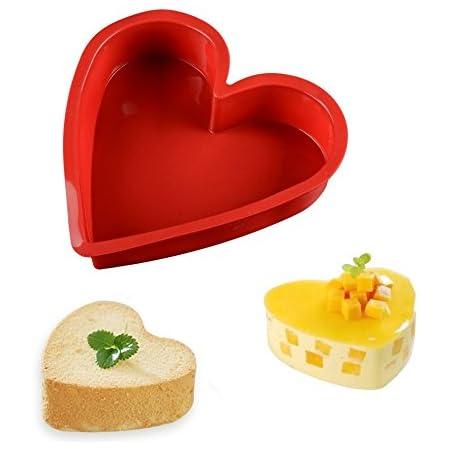 Sweet Candy Bakery – Moule à gâteau en silicone – Motif cœur – 25cm – Va au four