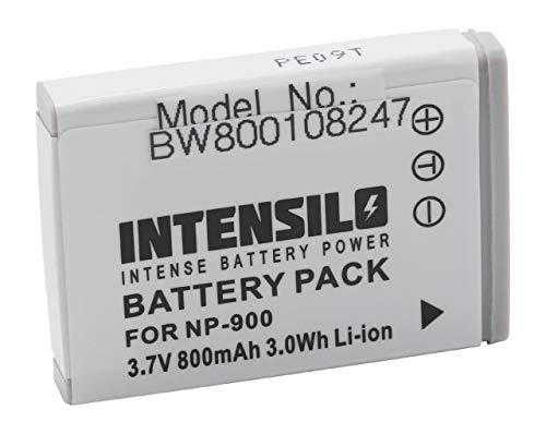 INTENSILO Li-Ion Akku 800mAh (3.7V) für Kamera Camcorder Video Aldi Traveller Slimline X5, Medion MD6331 wie NP-900, Li-80B.