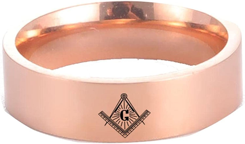 Skyrim Boston Mall Punk Masonic Rings For Freemaso Stainless Steel Women Men Mesa Mall