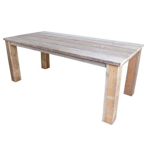 Gahalia Bauholz Möbel Tisch Bauholztisch Gartentisch 180x100cm