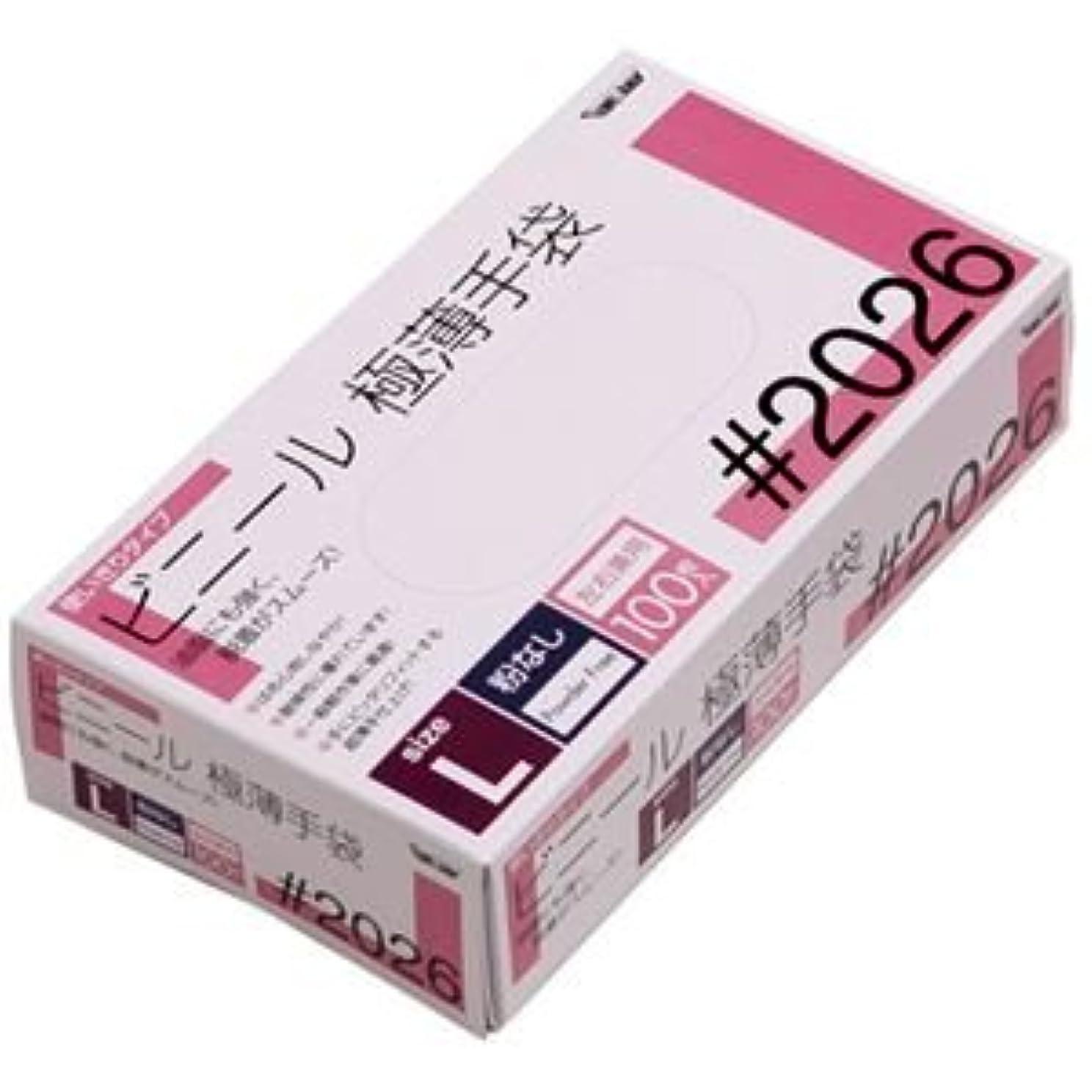 集団あざエスカレート川西工業 ビニール極薄手袋 粉なし L 20箱