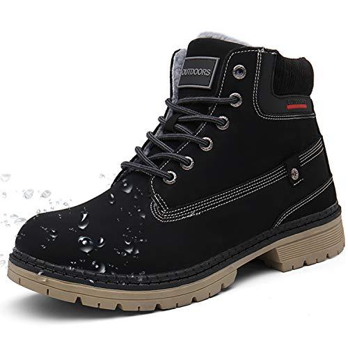 Stivali da Neve Uomo Donna Inverno Scarpe Trekking Scarpe Caldi Snow Boots Impermeabili Stivaletti Pelliccia Stringate Sneakers Outdoor